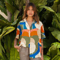 Camisa Oversized Anne Estampa Color Art