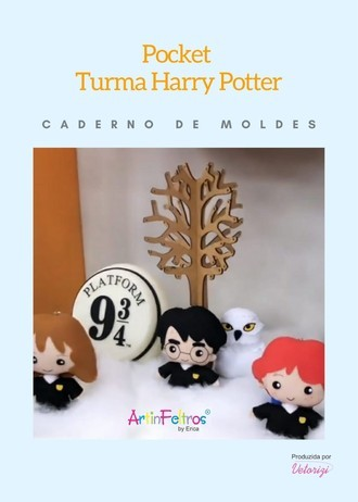 Caderno de Moldes Pocket Turma Harry Potter