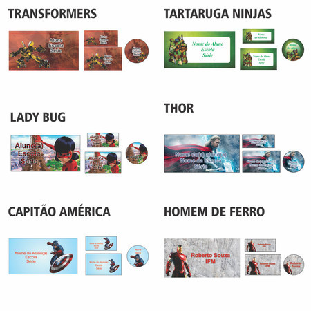 Kit Escolar Super-Herois 1