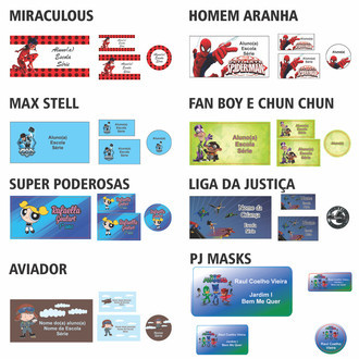 Kit Escolar Super Herois 3