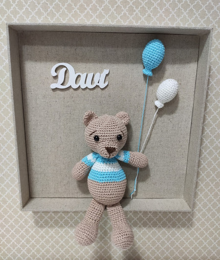 Enfeite Porta Maternidade Urso Aviador | 530x450