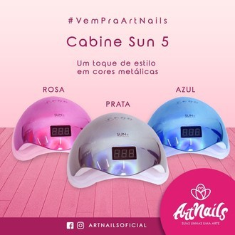 Cabine Sun 5 48w Metalizada Uv/led Digital