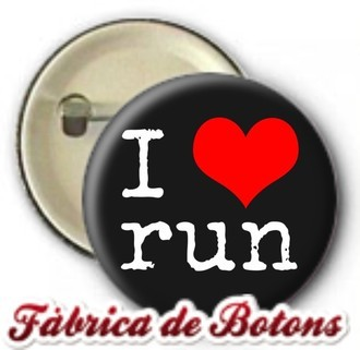 Boton I Love Run Eu Amo Correr