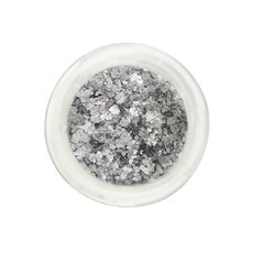 Glitter Natural e Biodegradável PRATA (3ml) - Pura Bioglitter