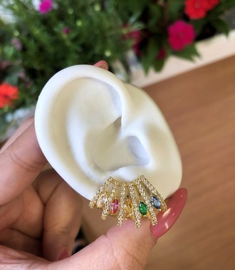 Brinco Ear Cuff Flora Leque