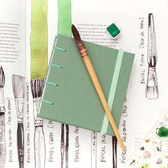 Sketchbook Aquarela Mini - Matcha
