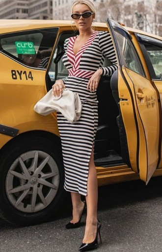 NYC COLLECTION | VESTIDO MIDI COLOR STRIPES