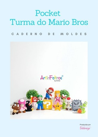 Caderno Moldes Pocket Mario Bross
