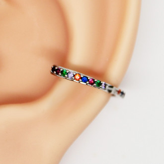 Piercing de Conch Clicker Rainbow Folheado