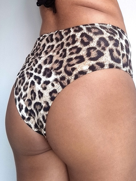 Bottom Hotpants Biquíni Animal Print