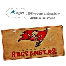 Placa de Carro Decorativa Buccaneers Tampa
