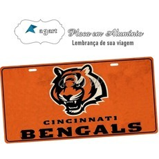 Placa de Carro Decorativa Cincinnati Bengals
