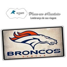 Placa de Carro Decorativa Broncos 2