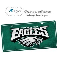 Placa de Carro Decorativa Philadelfia Eagles