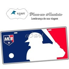 Placa de Carro Decorativa MLB