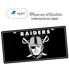 Placa de Carro Decorativa Raiders