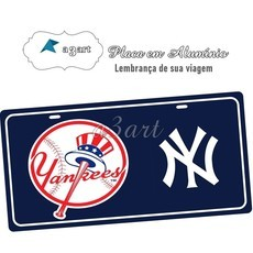 Placa de Carro Decorativa Yankees