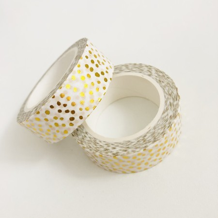 Washi Tape Golden Dots