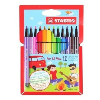 Estojo Stabilo pen 68 mini (12 cores)