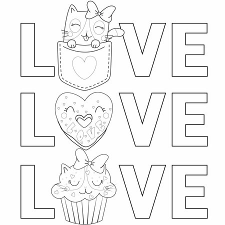 Colorindo com a Le Papier - love cats