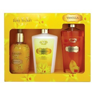 KIT LOVE SECRET TRIO VANILLA -Creme Corporal +Sabonete Líquido+splash