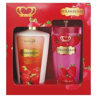 KIT LOVE SECRET DUO STRAWBERRY -Creme Corporal + Body splash