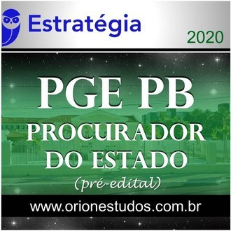 PGE-PB (Procurador do Estado) - 2020