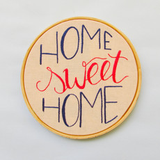 Quadro Bordado - Home Sweet Home