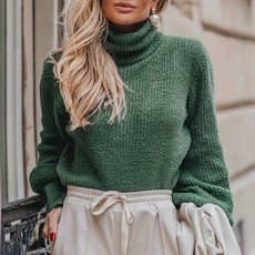 L'AMOUR COLLECTION | TRICOT BOUFÉE VERT