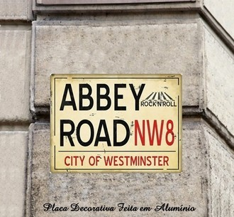 Placa de Rue Decorativa da Inglaterra Abbey Road