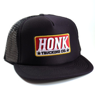 Boné 'Trucking Co.' | Preto, Trucker Aba Reta