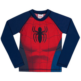 Camiseta de Lycra Tip Top Manga Longa Spiderman FPS 50 Ref 8605101