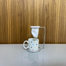 Kit caneca mini com coador