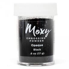 EMBOSSING POWDER - PÓ PARA EMBOSS MOXY - OPAQUE BLACK