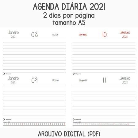 Arquivo Digital Pdf Miolo Para Agenda 2 Dias 2021