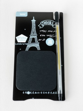 Sticky Note Preto com caneta Paris