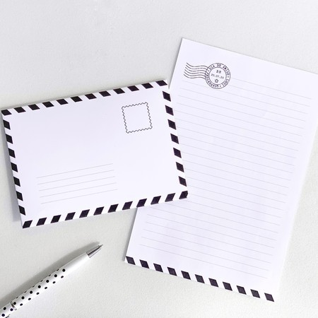 Papel de carta + envelope - DOWNLOAD GRÁTIS