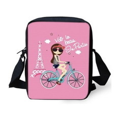 Bolsa Pink Bike Girl Paris BG14