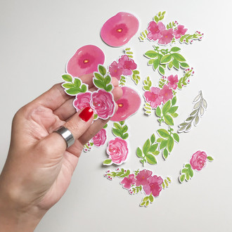 Die Cuts Aquarela rosa
