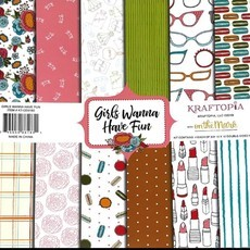 Bloco de papel coleçao Girls Wanna Have Fun - 24 folhas