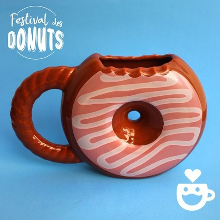 Caneca Donuts Chantilly - Chocolate