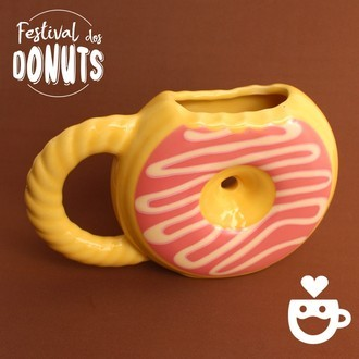 Caneca Donuts Chantilly - Creme