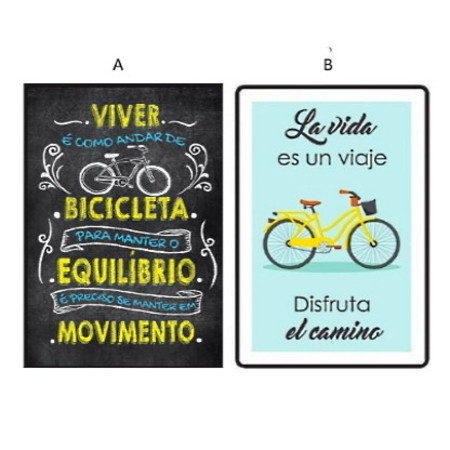 Placa Bike Decor H20