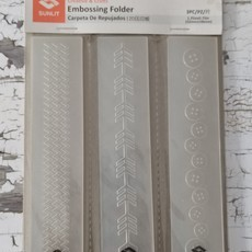 EMBOSSING FOLDER SUNLIT - BORDAS COSTURA