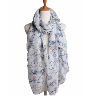 Romantic Bicycle Scarf RV05