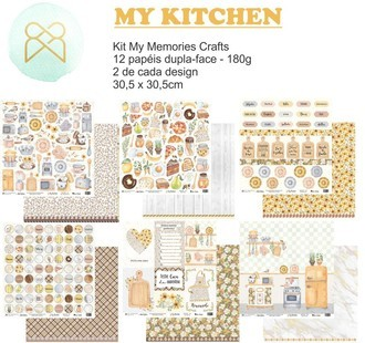 KIT PAPÉIS 12x12 - MY MEMORIES CRAFTS - MY KITCHEN