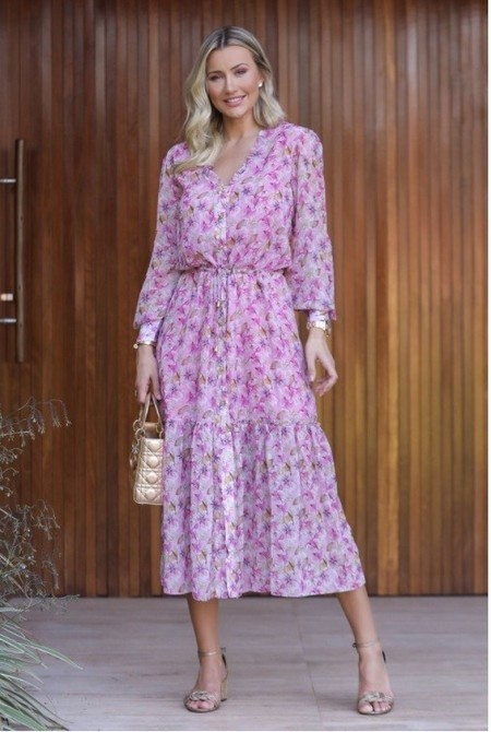 VESTIDO MIDI LILY | DROPS OF JOY