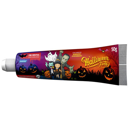 Gel Dental Contente Halloween Party Morango | (50g) - Contente
