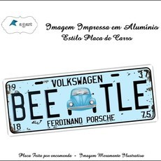 Placa de carro Decorativa marca Beeatle
