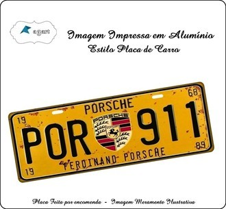 Placa de carro Decorativa marca Porsche